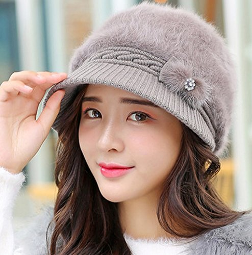 Mlle Automne Hiver Tricotage Duck Tongue Coquillages Thunder Hat Hiver Thick Keep Warm Tab Keep Warm ( couleur : 4# ) # 2