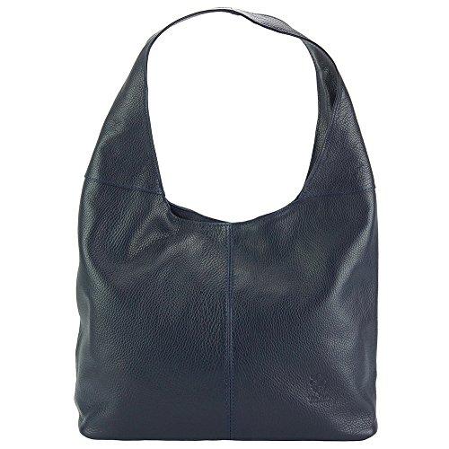 Leggera ed ergonomica borsa Hobo Caïssa - 0834 - Borse in pelle Blu scuro