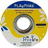3D Printlife PLAyPHAb 1,75mm Schwarz PLA/PHA Mischung 3D-Drucker Filament, Maßhaltigkeit <+/- 0,05 mm, Schwarz - gut und günstig