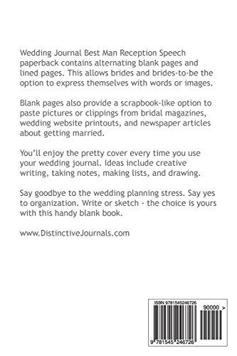 wedding journal best man reception speech notebook diary blank
