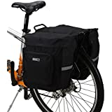 ROSWHEEL 30L Waterproof Fashion Cycling Bicycle Bag Bike Double Side Rear Rack Tail Seat Bag Pannier with 3 Pockets