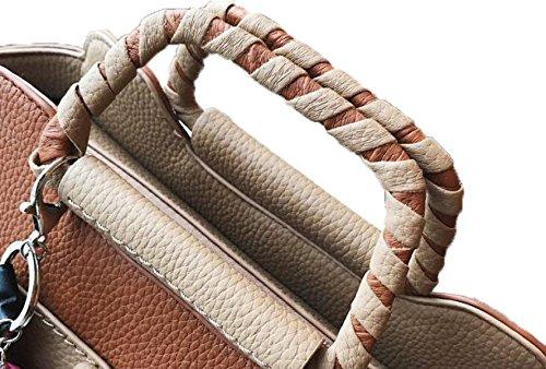 Fabelhaft Bären Anhänger Gewebte Handtasche Mode Hit Farbe Messenger Umhängetasche Brown
