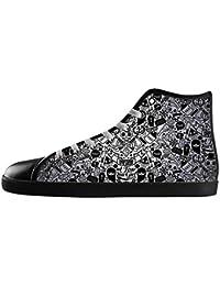 Dalliy Flower Sugar skull Men's Canvas shoes Schuhe Lace-up High-top Sneakers Segeltuchschuhe Leinwand-Schuh-Turnschuhe