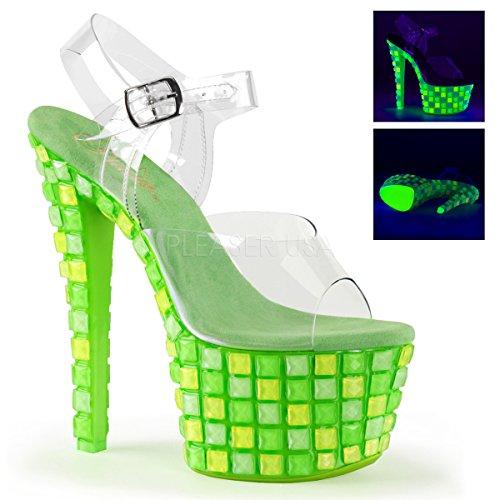 Pleaser SKY-308UVTL Clr/Neon Green