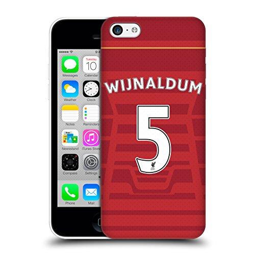 Offizielle Liverpool Football Club Coutinho Spieler Home Kit 16/17 Gruppe 1 Ruckseite Hülle für Apple iPhone 6 / 6s Wijnaldum