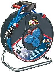 Brennenstuhl Garant IP44 Super-Solid Kabeltrommel (30m Kabel, Spezialkunststoff, Einsatz im Außenbereich, Made in Germany) blau