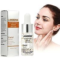 Sonew Péptidos sueros reafirmante rostro con ácido hialurónico colágeno seis péptidos 24 k esencia antienvejecimiento de