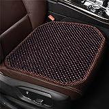 QXXZ Reinen, natürlichen Holz Perlen Auto Sitz Kissen Massage Anti-Rutsch Atmungsaktiv Autositzbezüge Sitz Matte Auto Styling, A