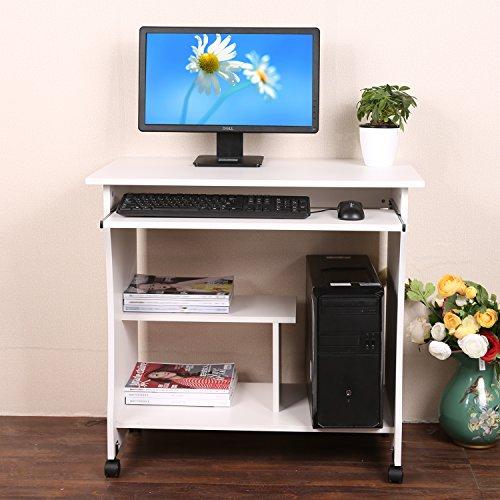 Fantastisch Mymotto Kleine Holztisch Computertisch Rollbar Für Zuhause Büro  Arbeitsstation Mit Tastatur Regal.