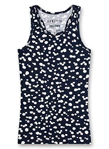 Sanetta Mädchen Athleisure Unterhemd, Blau (Navy 5172), (Herstellergröße: 140)