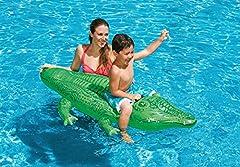 Idea Regalo - Intex 58546 - Cavalcabile Alligatore, Verde, 168 x 86 cm