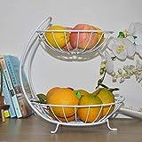 QTQHOME 3 Il Filo Espositore,Elegante Decorazione Chrome Cesto di Frutta Cucina Soggiorno Bar Ornamento della casa Carrello di Servizio Cestino di stoccaggio Ripiano-A 27x32cm(11x13inch)
