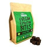 BodyMe Orgánica Proteínas Veganas Mordeduras De Bocados   Crudo Cacao Menta   500g   100 Mordeduras   Con 3 Proteínas Vegetales