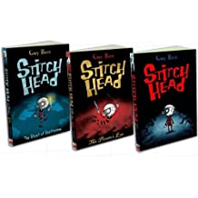 Guy Bass Stitch Head 3 Books Collection Pack Set RRP: £14.97 (The Pirates Eye, The Ghost of Grotteskew, Stitch Head)