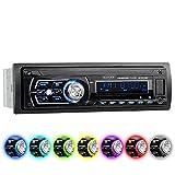 XOMAX XM-RSU258BT Autoradio nessun lettore CD + Bluetooth Vivavoce + 7 colori impostabili per l'illuminazione (rosso, blu, verde...) + Porta USB (fino 128 GB) & Slot SD (fino 128 GB) per MP3 e WMA + AUX-IN + Protezione antifurto: Il frontalino è estraibile + Dimensioni standard singolo-DIN / 1-DIN + Telecomando, custodia protettiva e cornice metallica esterna inclusi