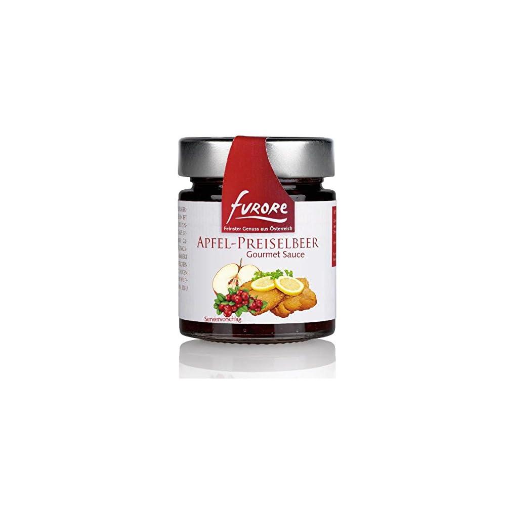 Furore Apfel Preiselbeer Gourmet Sauce 4x 160g