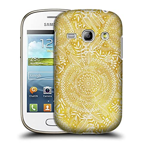 Official Micklyn Le Feuvre Medallion Pattern Doodle Patterns Hard Back Case for Samsung Galaxy Fame S6810