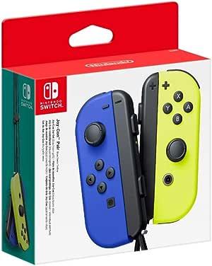 Controller Nintendo Switch Set da 2 Joystick, Blu e Giallo Neon