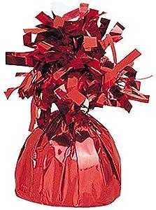 Unique Party- Peso del globo, Color rojo (4942)