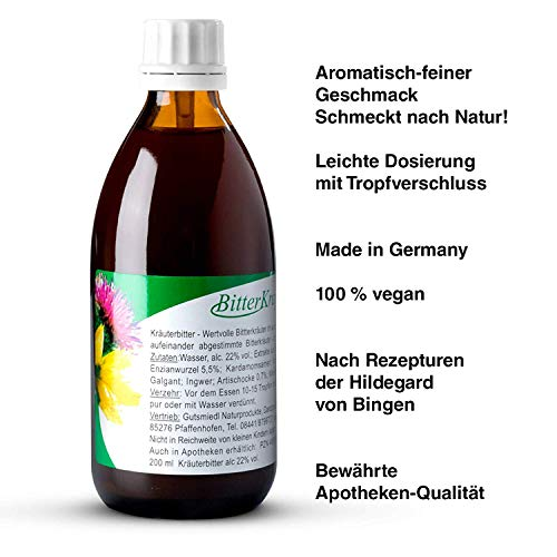 Gutsmiedl - Bitterkraft - Bittertropfen Kräuterbitter nach Hildegard von Bingen (200ml)