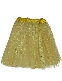 747b68f381 MUNDDY Tutu Elastico Tul 3 Capas 40 CM de Longitud para Adulta Distintas  Colores Falda Disfraz