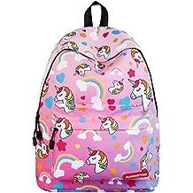 Unicornio Colegio Mochila para niñas,Bolsos escolares para niños Mochila para Adolescentes de Regreso a