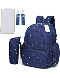 Motherly Stylish Babies Diaper Bags For Mothers With 1 Bottle Bag + 1 Diaper Changing Mat + 1 Set Of Stroller...