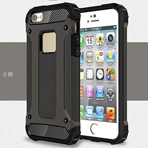 """iPhone 5S/5 Coque, AOFad Case Anti - poussière Protection des lourds 2-à-1 gris TPU Avec 10 Colors Diamond Accessoires Série Pour Femme Homme 4"""" I119 AOFad B323"""
