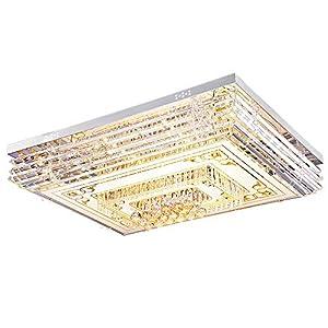 LED 80W Wohnzimmerlampe Modern Einfachheit Kristall Deckenleuchte mit Fernbedienung Dimmbar Luxus Romantische Schlafzimmerlampe Landhauslampe Ø 80CM