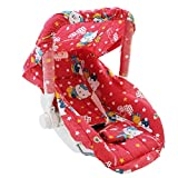 Ehomekart Kid's Red Carry Cot cum Bouncer - 6 in 1 (Print May Vary) - FEEDING CHAIR, BABY CHAIR, ROCKER, CARRYING