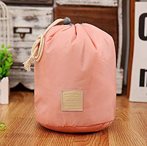 Storage Bags Bags - Barrel Shaped Travel Cosmetic Bag Makeup Nylon Wash Bags Organizer Storage Capacity - Heavy Saver Divider Behind Duty Moving Hand Makeup Mattress Soft Extracting White Seale