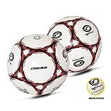 Optimum Classico Herren-Fußball Weiß schwarz/red Größe 5