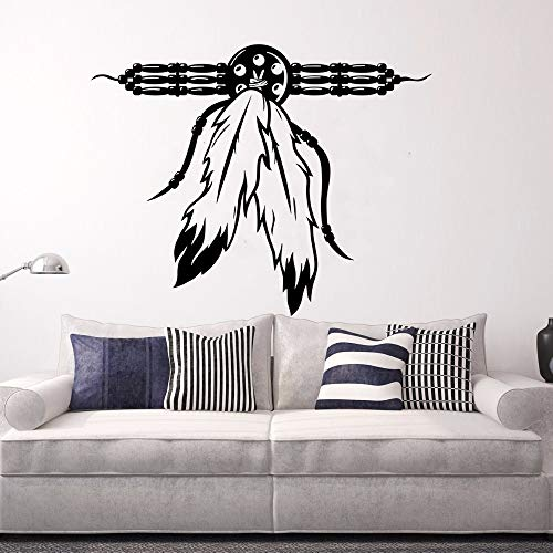 sswymx Native American Talisman Wandaufkleber Halskette Kultur Wandkunst Wand Fantasy Mystic Collection Vinyl Wandtattoo Für Wand72x57 cm