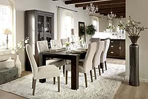 Table à manger Ambassador 180Espresso bois massif L180x 100x 75cm by Canett
