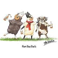 """Sheep Greeting Card""""Rum Baa Baa"""