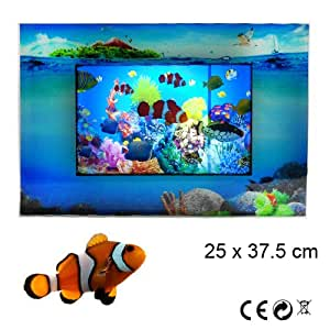 Acquario finto per arredamento quadro animato luminoso for Arredamento luminoso