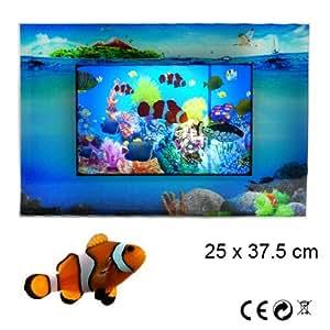 Acquario finto per arredamento quadro animato luminoso for Arredamento acquario