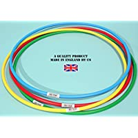 Witzigs Games Standard hula hoops bundle of 4x600mm. dia. 03236