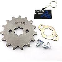 stoneder 420 15 dientes 17 mm frontal cadena piñón Gear 50 cc 70 cc 90 cc