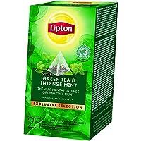 Lipton Exclusive Selection Thé Vert Menthe Intense 25 Sachets Pyramide