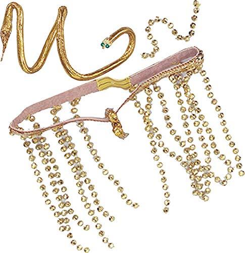 Damen Elegant Kostüm Zubehör Kopfbedeckung Armband Ägyptisch Königin Kleopatra Set