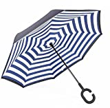 Le Monde du Parapluie Regenschirm, blau (Blau) - HM21BLUESTRIPES
