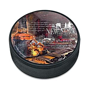 GRAPHICS & MORE New York Whiskeygitarre Eishockey Puck