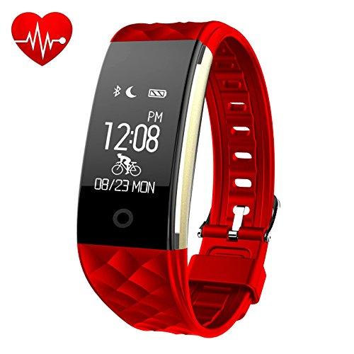 Fitness Armbanduhr,Fitness Tracker mit Pulsuhr IP67 Wasserdicht Smart Aktivitätstracker Sport Armband Herzfrequenz Monitor Smartwatch Schrittzähler GPS für Android iOS Smartphone- iPosible