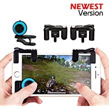 Mobile Game Controller Sensitive Shoot and Aim Keys Button L1R1 Shooter Controller for PUBG/Knives Out/Rules of Survival/Fortnite Cellphone Analog Joystick Latest Upgraded Version (1Pair + joystick)