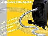 Abgasschlauch -geräuschreduzierend - für alle gängigen Stromerzeuger wie Kipor, FME,HTT; Atima - eingetragen beim deutschen Patenamt, Caravaning, Camping, Wohnmobil, Boot, Baustelle, Event, Festival