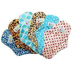 LBB(TM) Rusable Micro-fiber Mama Cloth Menstrual Pads,6pcs pack