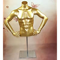 HeuSa Tech Window mannequin Torso Male Gold With arms