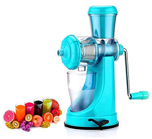Floraware Rubber Plastic Fruit and Vegetable Juicer with Steel Handle and Waste Collector (Green)