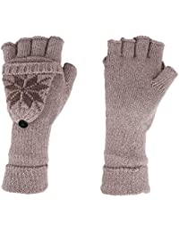 Gants Mitaines Homme Femme Gant Demi-doigt Tricot Thermique Moufles  Convertible en Laine Chaud Mitaine fdb676ff303